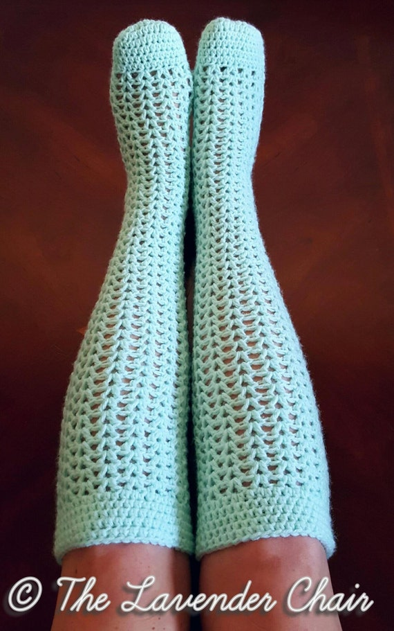 Valerie S Knee High Socks Crochet Pattern Pdf By