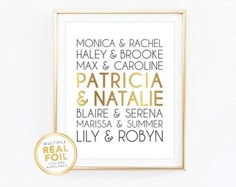 Best Friends, Besties, Bestfriend gift, Gold, Silver, Pink, Red, Home Decor, Quote Print, Celebrity bestie