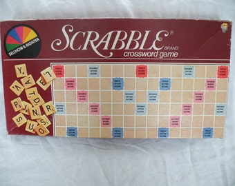Vintage Board Game, Scrabble Crossword Game, Scrabble Brand, 1982 By Selchow & Righter Company