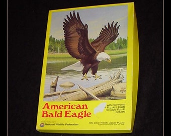 National Wildlife Federation American Bald Eagle 1981 Jigsaw Puzzle