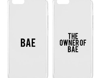 Couple phone case - Couple iPhone case - iPhone case - Bae - The owner of Bae - Cute - Teen gift | SNT-009-SLIM-PERFCASE