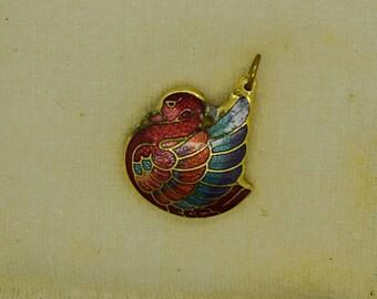 Cloisonne Turkey Charm for Bracelet