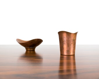 Modernist Copper Vessels by Ernst Dragsted - Danish - Mid Century Modern - Pair