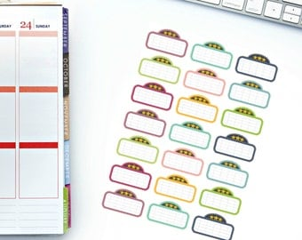 Movie Marquee Planner Stickers! Perfect for your Erin Condren Life Planner, calendar, Paper Plum, Filofax!