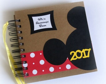 80 pgs PERSONALIZED  Disney Autograph Book Scrapbook Travel Journal Vacation Photo Book 245