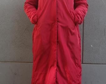 Large Pockets Long Down Coat, Winter Down Coat,Women Coats,Women Warm Down Coat Many Colors Custom Made Any Size