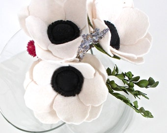Felt Flower Bouquet - Wedding Bouquet - Bridal Bouquet