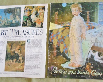 Art Treasures on Jigsaw Puzzles  ~ Collectors' Showcase Magazine Article