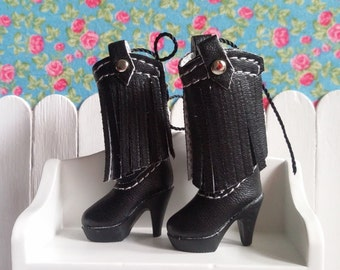 SALE * boots black heel for Blythe and Pure neemo