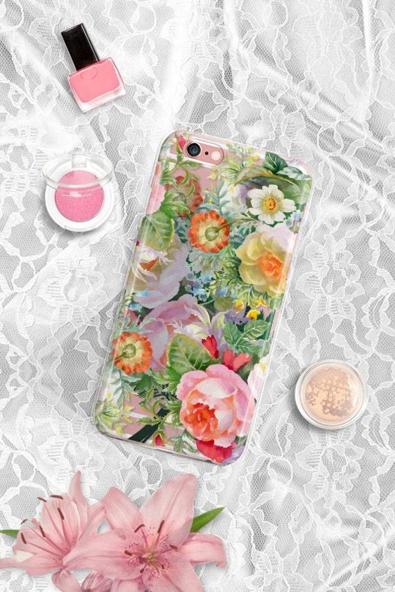 iPhone 7 Case Vintage floral iPhone 7 Plus Case Clear iPhone 6 Case Clear iPhone 6 Plus Case iPhone 7 Case iPhone 6S Case Samsung S7 Case