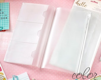 Clear Pocket Pages for Traveler's Notebook - Webster's Color Crush Collection -Dori- Journal your thoughts for your Bible Journalling!