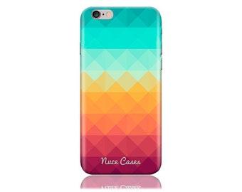 iPhone 7 Plus Case - iPhone 7+ Case - iPhone 7 + Case #Pixel Waves Design Hard Phone Case