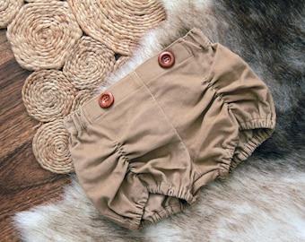 Corduroy Pucker Shorts in Camel Custom sz 0-6