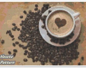 Coffee Cross Stitch Pattern, Caffee Home decor x stitch pattern, Cross stitch Embroidery, Embroidery pattern