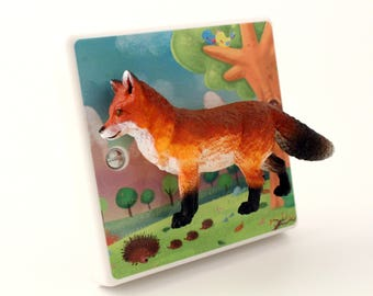 Fox Dimmer Switch - Woodland Nursery Decor - Woodland Themed Nursery - Woodland Bedroom - Fox Gift - Nursery Lighting - Fox Decor -Fox Gifts