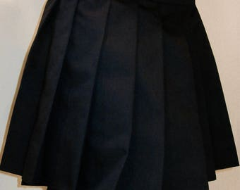 Solid Black Pleated Skirt~Black Skirt Tennis Skirt~Cosplay Black Skirt~Custom make School Girl Uniform Skirt~Small to Plus size@sohoskirts