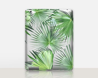 Palm Leaves Transparent iPad Case For - iPad 2, iPad 3, iPad 4 - iPad Mini - iPad Air - iPad Mini 4 - iPad Pro