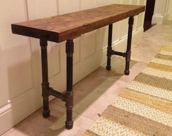 Rustic Industrial Pipe Amp Oak Wood Coffee Table Metal Pipe