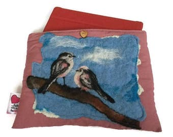 Luxury padded iPad/tablet case (CozyPad) with original felted artwork