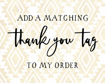 Matching Thank You Tag