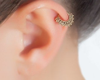Tragus piercing. cartilage hoop. cartilage jewelry. tragus earring. cartilage earring. helix hoop. helix earring. tragus earring silver.