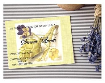 Dinner/Lunch/Brunch Invitation Card Vintage Customizable - Printable Digital Download
