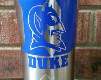 Sports Decal | Team Decal | College Decal | Duke Decal | Duke University | Duke Blue Devils | Duke Yeti Decal | Yeti Decal for Men |