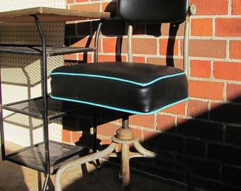 Vintage Industrial Steelcase Swivel Desk Chair