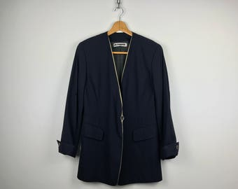 Rare! Jil Sander One Button Blazer, Hidden Button, size 36, made in Germany