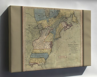 Canvas 24x36; 1771 Map Of North America United States Colonies