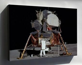 Canvas 24x36; Apollo 11 Lunar Lander