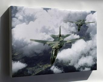 Canvas 24x36; F-111 Aardvark Aircraft Exercise Kangaroo '81