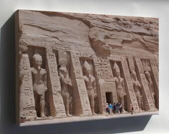 Canvas 24x36; Temple Of Nefertiti Abu Simbel Temples, Temple Of Nefertiti