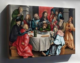 Canvas 24x36; The Last Supper By Hans Leonhard Schaufelein 1511