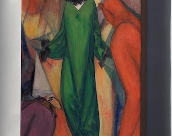 Canvas 24x36; Albert Bloch The Green Domino