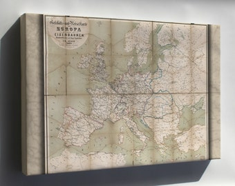 Canvas 16x24; Map Of Europe 1866 In German