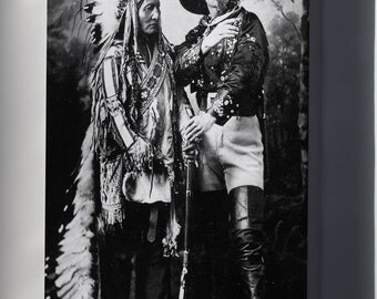 Canvas 16x24; Sitting Bull And Buffalo Bill (1895