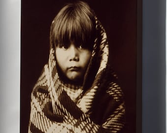 Canvas 16x24; Navajo Child Native American Indian By Edward S. Curtis 1904