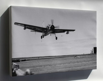 Canvas 16x24; Navy Grumman Af-2S Guardian (Vs-37) Uss Badoeng Strait 1954