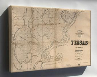 Canvas 16x24; Map Of Tensas Parish, Louisiana 1873