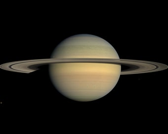 16x24 Poster; Saturn During Equinox Taken By Cassini
