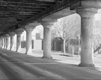 16x24 Poster; Haer Pa,51 Phila,721 12 25Th Street Elevated View From Below