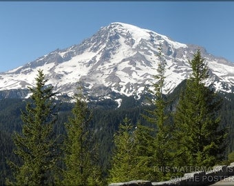 16x24 Poster; Mount Rainier Seattle Tacoma Washington