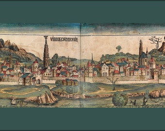 16x24 Poster; Vienna In 1493 (From The Nuremberg Chronicle)
