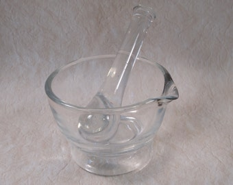 Glass Mortar and Pestle Set