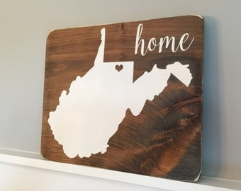 """West Virginia State Sign (approx. 13"""" x 11.25"""")"""