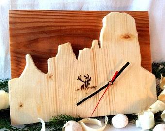 Dolomiti Wooden Clock