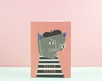 Pablo Picasso Cat Card