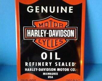 """Metal Sign * Harley Davidson Motorcycles * 13""""x17"""""""
