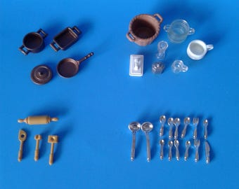 """Playmobil Victorian Mansion """" Replacement Kitchen Parts """"  5300 Series HTF RARE"""